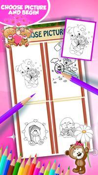 Sweet Teddy Coloring Book screenshot 2