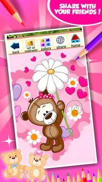 Sweet Teddy Coloring Book screenshot 6