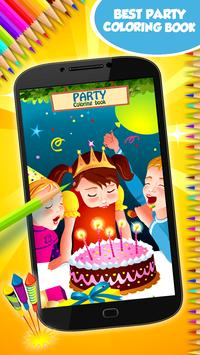 Party Coloring Book poster