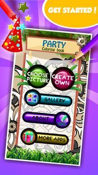 Party Coloring Book screenshot 1