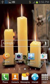 Three Candles Live Wallpaper apk screenshot