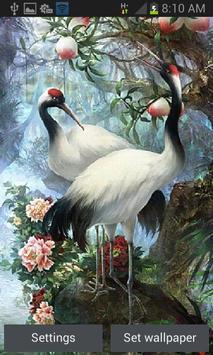 White Birds Live Wallpaper poster