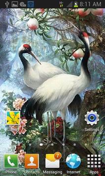 White Birds Live Wallpaper apk screenshot