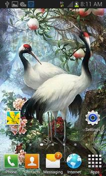 White Birds Live Wallpaper screenshot 1