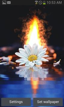 White Flower Fire LWP poster