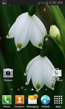 White Flowers Live Wallpaper screenshot 2