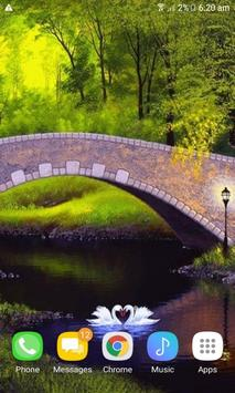 White Swans Live Wallpaper screenshot 1