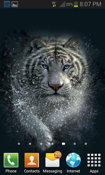 White Tiger Water LWP apk screenshot