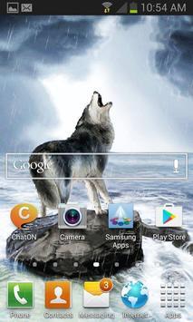 Wolf Barking Live Wallpaper apk screenshot