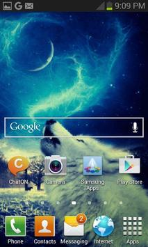 Wolf In Night LWP apk screenshot