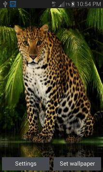 Angry Forest Leopard LWP poster
