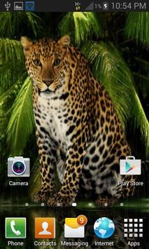 Angry Forest Leopard LWP apk screenshot