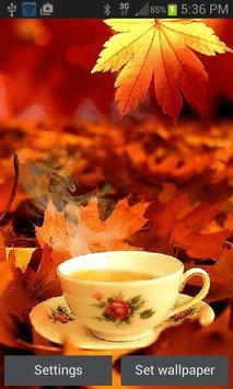 Autumn Tea Live Wallpaper poster