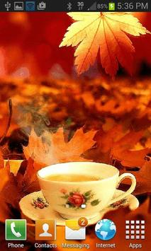 Autumn Tea Live Wallpaper screenshot 1