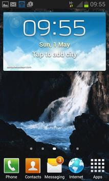 Black Rock Water LWP apk screenshot