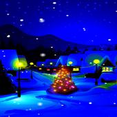 Blue Christmas Night LWP icon
