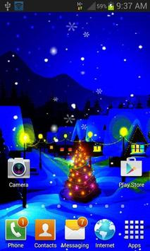 Blue Christmas Night LWP poster