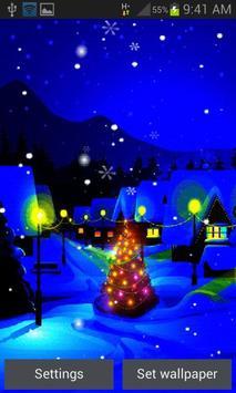 Blue Christmas Night LWP apk screenshot