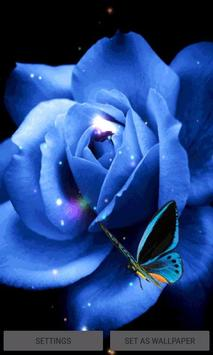Blue Butterfly Rose LWP poster