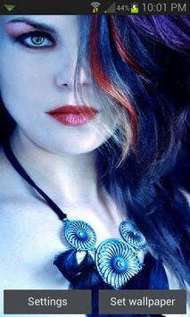 Blue Eyes Beauty LWP poster