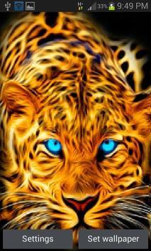 Blue Eyes Leopard LWP poster