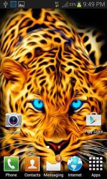 Blue Eyes Leopard LWP apk screenshot