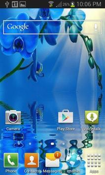 Blue Orchid Live Wallpaper apk screenshot