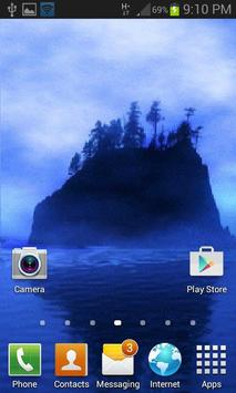 Blue Island Live Wallpaper apk screenshot