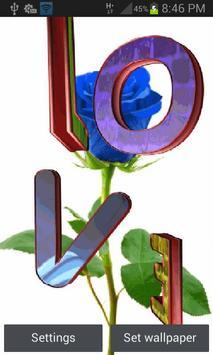 Blue Rose Love LWP poster
