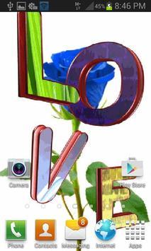 Blue Rose Love LWP screenshot 1