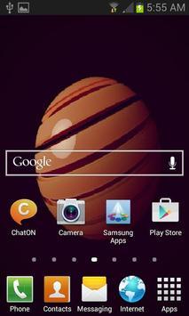 Brown Ball Live Wallpaper apk screenshot