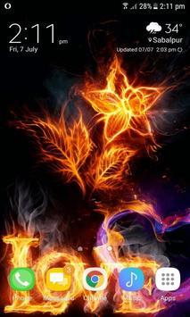 Burning Love Live Wallpaper apk screenshot