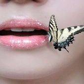 Butterfly On Lips LWP icon