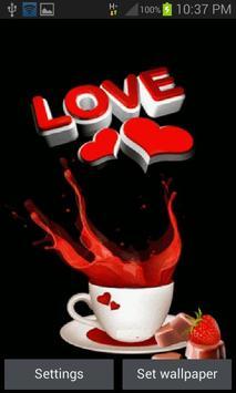 Coffee Love Live Wallpaper poster