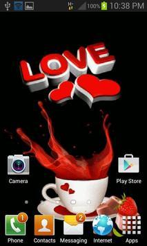 Coffee Love Live Wallpaper apk screenshot