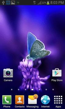 Cute Butterfly Live Wallpaper apk screenshot