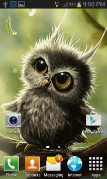 Cute Small Owl LWP screenshot 2