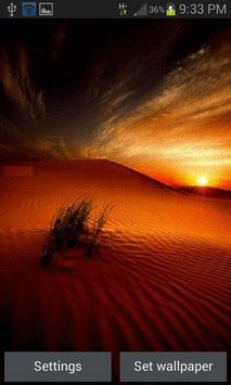 Desert Sunset Live Wallpaper poster