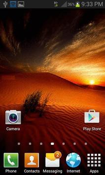 Desert Sunset Live Wallpaper screenshot 1