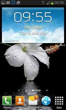 Dewy White Flower LWP apk screenshot