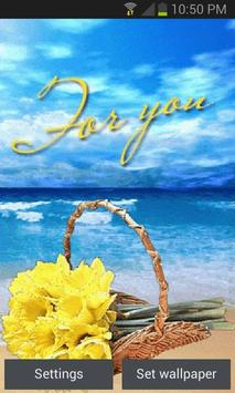Flower On Beach LWP poster