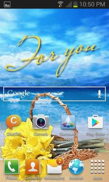 Flower On Beach LWP apk screenshot