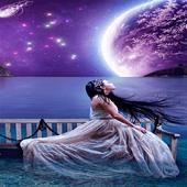 Girl On Ocean LWP icon