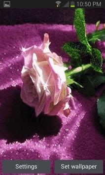 Green Leaf Rose LWP apk screenshot