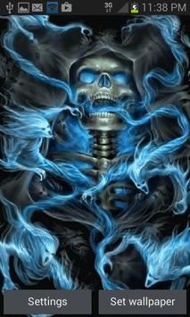 Haunted Skull Live Wallpaper poster