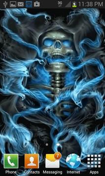 Haunted Skull Live Wallpaper apk screenshot