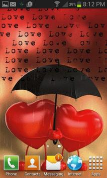 Heart In Rain LWP apk screenshot