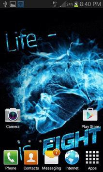 Life Is Fight LWP apk screenshot