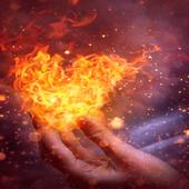 Little Fiery Heart LWP icon