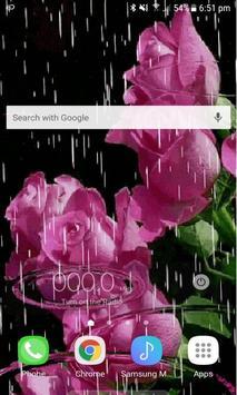 Lovely Rainy Roses LWP screenshot 1